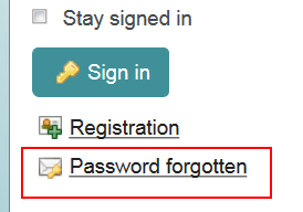 Password Forgotten