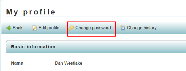 Password change.